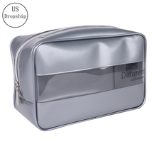 New PVC Transparent Cosmetic Bag Travel Organizer Fashion Cosmetics Washing Storage Box Large Capacity Makeup