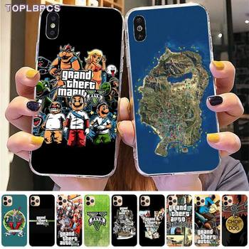 TOPLBPCS Special Gta Grand Theft Auto 5 V San Andreas Soft Phone Case for iPhone 8 7 6 6S Plus X 5S SE 2020 XR 11 12 pro XS MAX image