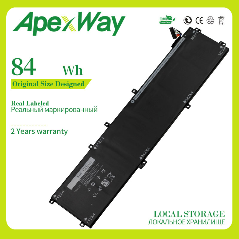 Apexway 11.4V 84WH 4GVGH Replacement Laptop Battery For <font><b>DELL</b></font> Precision 5510 <font><b>XPS</b></font> 15 <font><b>9550</b></font> series 1P6KD T453X image