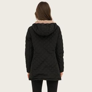 Image 4 - Johnature ستر مقنعين معاطف 5 اللون النساء 2020 ربيع جديد بلون عارضة النساء الملابس طويلة الأكمام زائد حجم جودة ستر