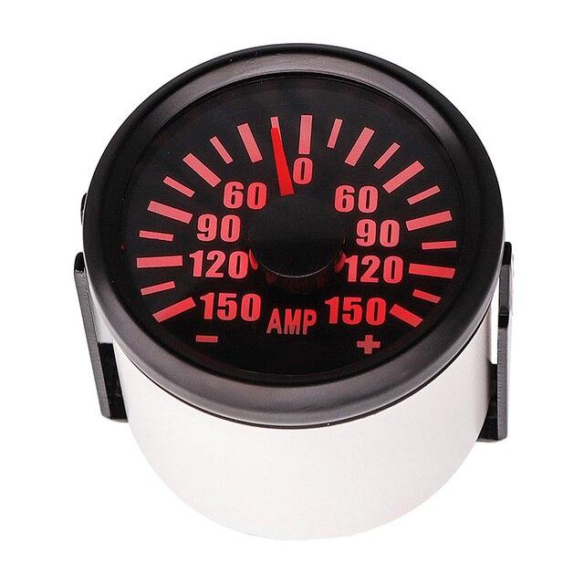 ±150A Auto Pointer Amp Meter 52mm Motorcycle Ammeter Dial Amperemeters 9-32v Ampere Gauge With Sender For Ship Car Marine