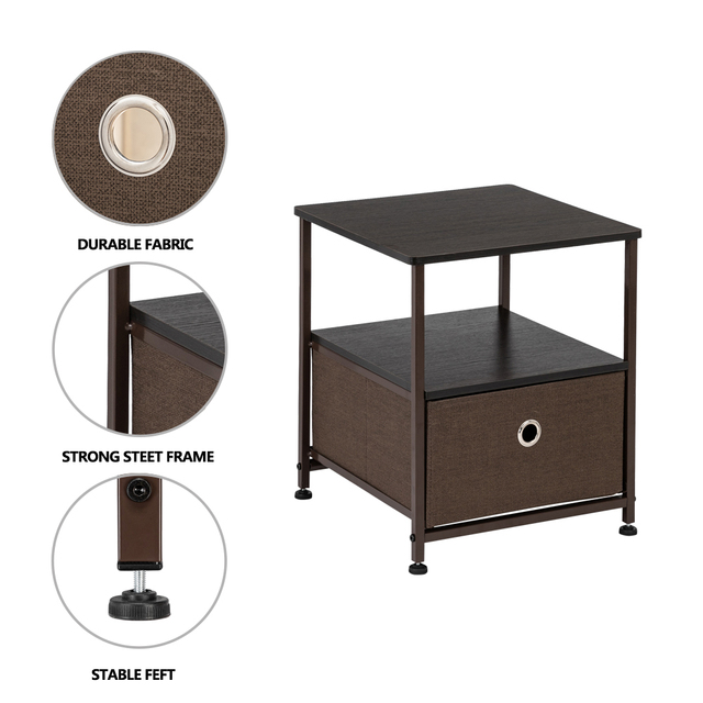 Nightstand 1-Drawer  & Accent End Table  4