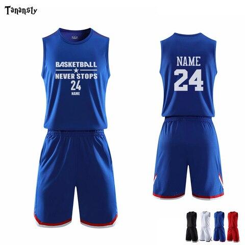 Conjunto de Basquete Camisa e Shorts Qualidade Superior Design Pessoal Disponível Basquete Jérsei Adulto Juventude Esportes Ternos Respirável Diy