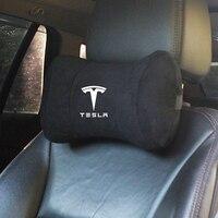 Almohada para reposacabezas de coche, accesorios de decoración para el cuidado del cuello del asiento del automóvil, soporte suave para Tesla modelo 3 S X Y