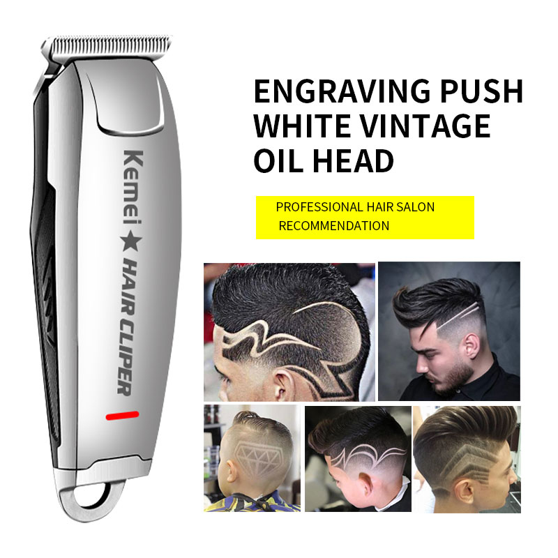 Kemei-2812 barbearia recarregável máquina de cortar cabelo elétrica aparador de cabelo profissional corte de cabelo barbeador aparador de barba máquina de corte