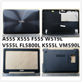 Neue laptop Für ASUS A555 X555 F555 W519L V555L FL5800L K555L VM590L LCD Back Cover Top Fall/Front Lünette/scharniere/Bottom Basis Abdeckung