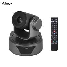 Aibecy Video konferans kamerası 3X isteğe bağlı Zoom kamera kamerası Full HD 1080P desteği 95 derece geniş görüş otomatik USB uzaktan kontrol