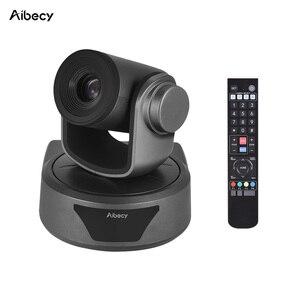 Image 1 - Aibecy Video konferans kamerası 3X isteğe bağlı Zoom kamera kamerası Full HD 1080P desteği 95 derece geniş görüş otomatik USB uzaktan kontrol