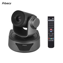 Aibecy câmera de vídeo conferência 3x opcional zoom cam webcam completo hd 1080p suporte 95 graus visão ampla usb controle remoto automático