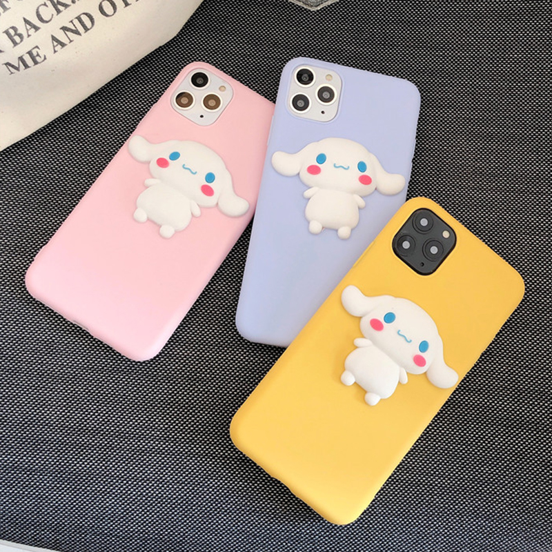 Cartoon 3D Silicone Cinnamon Dog Case For LG G3 G4 G5 SE G6 Plus G7 G8 Thinq V10 V20 V30 V40 V50 Q6A Q7 Q8 Cute Animals Shell