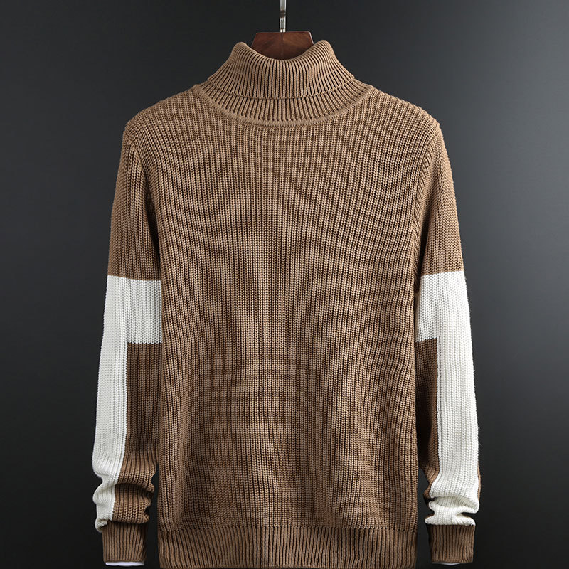 2019 Youth Sweaters Leisure Turtleneck Sweater Render Of The New Color Matching Sweater