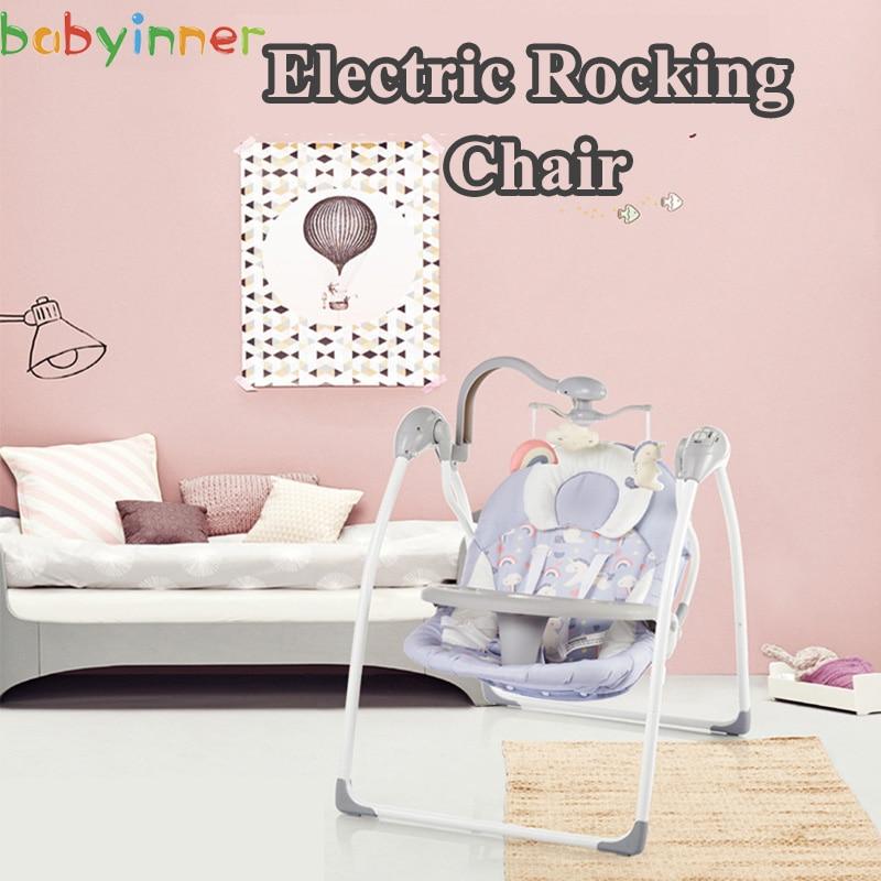 Babyinner Baby Rocking Chair Baby Bassinet Newborn Electric Cradle Foldable Baby Chair Multifunctional Swing Baby Sleeping Innrech Market.com