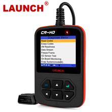 Launch Creader Hd Plus Zware Truck OBD2 Diagnostische Coder Reader Obd 2 Scan Tool Crhd Truck Scanner Met J1939, j1587 J1708