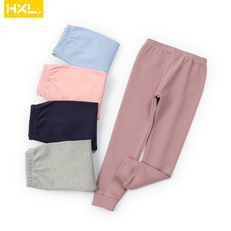 2020 Autumn Kids Basic Leggings Thermal Underwear Long Pants Cotton Solid Thick Soft Baby Boys Girls Trousers Pajamas Sleepwear 1