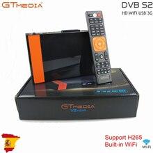 Gtmedia v8 nova built in wifi h.265 com europa 7 linhas navio rápido 2/3 dia de espanha hd DVB S2 receptor de satélite embutido rj45