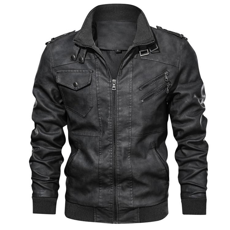 Motorcycle PU Jacket Biker Leather Coats