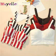 2019 Crop Top For Women Slimming Movement Striped Women Tank Top Summer Sexy Cropped Elasticity Bustier Women Tops Tank