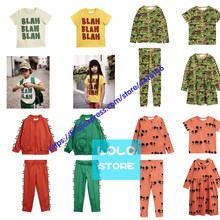 Presale Kdis Set Winter Baby Boys Outfits Cartoon Long Sleeve Leopard Jumpsuits Toddler Girls Cotton Pants For Children Clothes(China)