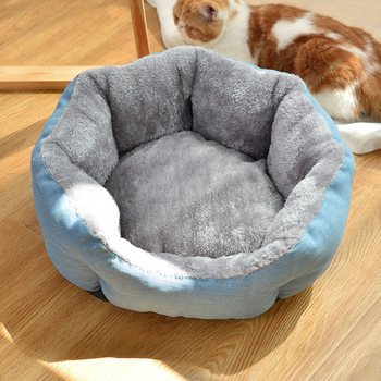 Winter Pet Bed Cat Kitten Dog Soft Sleeping Mat Pet Nest