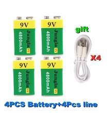 Bateria de lítio recarregável do usb da bateria 9v 4800mah li-ion de alta capacidade para o brinquedo dropshipping controle remoto