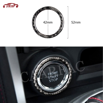 Carbon Fiber Car Engine Start Stop Button Ring Trim Sticker For Toyota GT86 FT86 ZN6 Subaru BRZ 2013-2017 Inner Decorating image