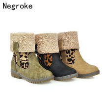 2019 Hot New Snow Boots Women Winter Ladies Foldable Warm Fur Suede Block Heel Ankle Boot Female Comfort Casual Shoes Plus Size