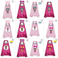 LOL Dolls Surprise Cartoon Anime Cosplay Costumes 70cm for 4-6 Years Kids Dollls Mask Cape Cloak Toys Girls Gifts