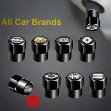 4pcs New Metal Car Wheel Tire Valve Caps for Toyota Corolla Yaris Rav4 Avensis Auris