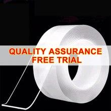 INS recomendar Nano cinta de doble cara-Casa gekkotape transparente NoTrace reutilizable impermeable cinta adhesiva nuevo pegamento