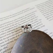 Rialn 2021 novo retro g carta anel tendência ajustável homens e mulheres mesmo anel de design simples estilo anel jóias