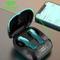 Игровой Беспроводной Bluetooth наушники с микрофоном в ухе Шум шумоподавления наушники Динамик Гам низкой задержкой светодиодный наушники-вкл...