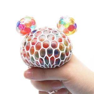 Stress Reliever Grape Ball Squeeze Relief Toy Creative Decompression Mesh Colored Grape Ball Decompression Toys Random Color