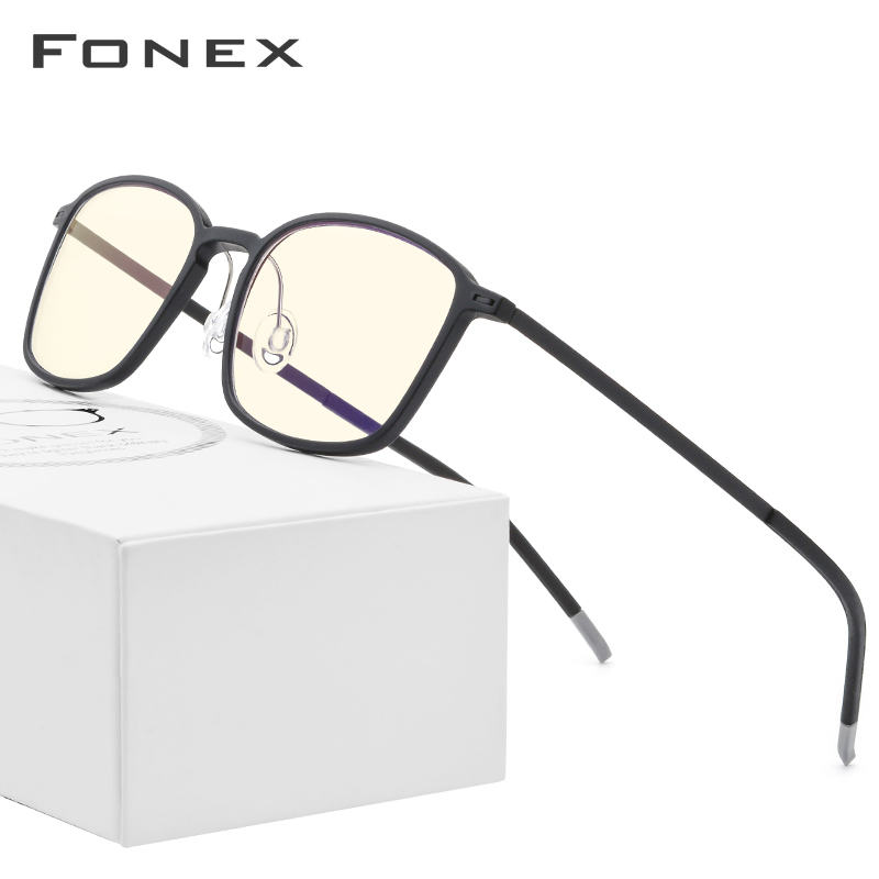 FONEX TR90 Anti Blue Light Glass Men Goggles Eyewear Eyeglasses Spectacles Antiblue Gaming Computer Glasses For Women AB01