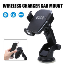 Qi Wireless Fast Charging Car Charger Mount Holder Stand 2 in 1 For Cell Phone Air Vent iphone