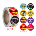 WYSE 120/500pcs Thank You Stickers Handmade with Love Diary Scrapbooking Stickers Birthday Wedding Party Gift Decorations Labels