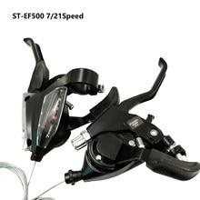 Desviador de bicicleta 3*7 velocidade alavanca de deslocamento & alavanca do freio siameses mergulho 21 velocidade mtb mountain bike shifter st ef500 ef51