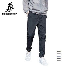 Image 1 - Pioneer calças casuais masculinas, calças casuais masculinas de algodão slim fit, roupas de marca para homens, verão 2020 axx901001