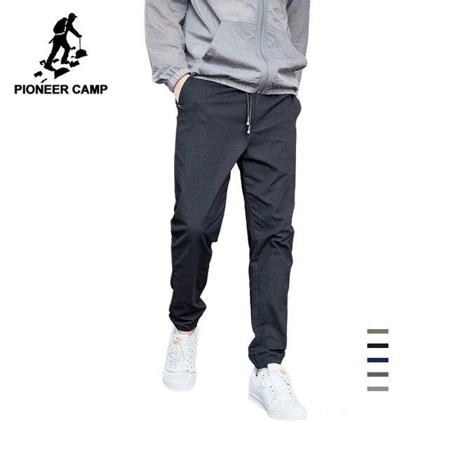 Pioneer calças casuais masculinas, calças casuais masculinas de algodão slim fit, roupas de marca para homens, verão 2020 axx901001