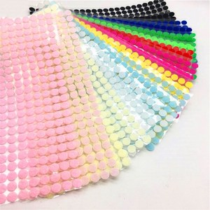 99Pairs 10mm Color Adhesive Fastener Tape Dots Hook And Loop Magic Sticker Round Strong Self Adhesive Dual Lock Magic Tape