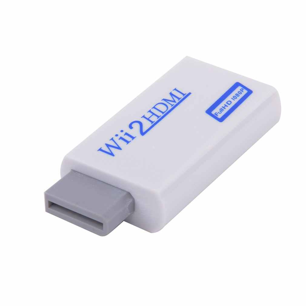 Na Wii do konwertera HDMI wsparcie FullHD 720P 1080P Audio 3.5mm Wii2HDMI Adapter do telewizora HDTV Wii konwerter dropshipping