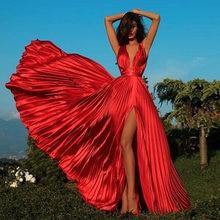 Verngo драпированные длинные платья с Боковым Разрезом Вечернее