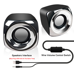 Image 5 - AUX Mini Computer Speakers USB Powered Wired 1 Pair Bass Stereo Speakers for Laptop Desktop Phone 2.5W*2 Powerful Loudspeaker