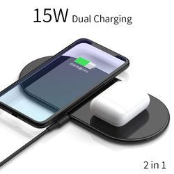 Bezprzewodowa ładowarka 2 W 1 QI 15W SIKAI QC 3.0 szybkie ładowanie dla iPhone huawei samsung podwójna stacja ładująca 30W 3 W 1 w Ładowarki do telefonów komórkowych od Telefony komórkowe i telekomunikacja na