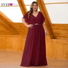 Платья для матери невесты размера плюс Ever Pretty EZ07717MV трапециевидные элегантные вечерние платья с v-образным вырезом Vedtido Madrinha