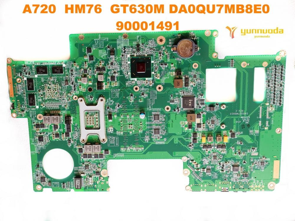 Image 2 - Original for Lenovo A720 laptop  motherboard A720  HM76  GT630M DA0QU7MB8E0  90001491  tested good free shipping
