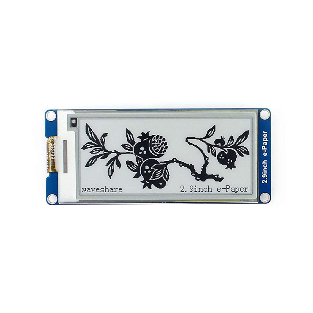 2.9 Inches Electronic Industry Low Power Epaper Screen Durable SPI Interface E-ink Display Module Two-Color For Raspberry Pi image