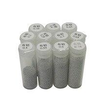 Boule de reballage BGA plomb en étain 25K, 1 pièce, 0.2 0.25 0.3 0.35 0.4 0.45 0.5 0.55 0.6 0.65 0.76mm pour BGA, kit de pochoirs de reballage