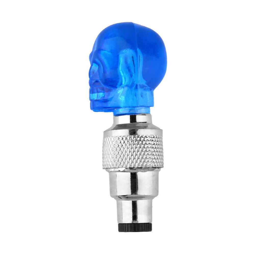 Wholesale1 pcs גולגולת צורת Valve שווי LED אור גלגל צמיג מנורת עבור מכונית אופנוע אופניים