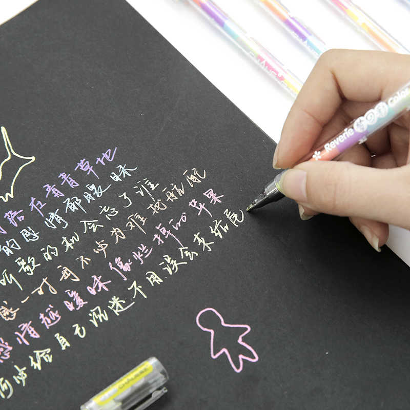 1pcs ניאון מנורת עמיד כדורי עט מסתובב כיס עט נייד עט כדורי Kawaii שמן עט מעודן כתיבה כלי