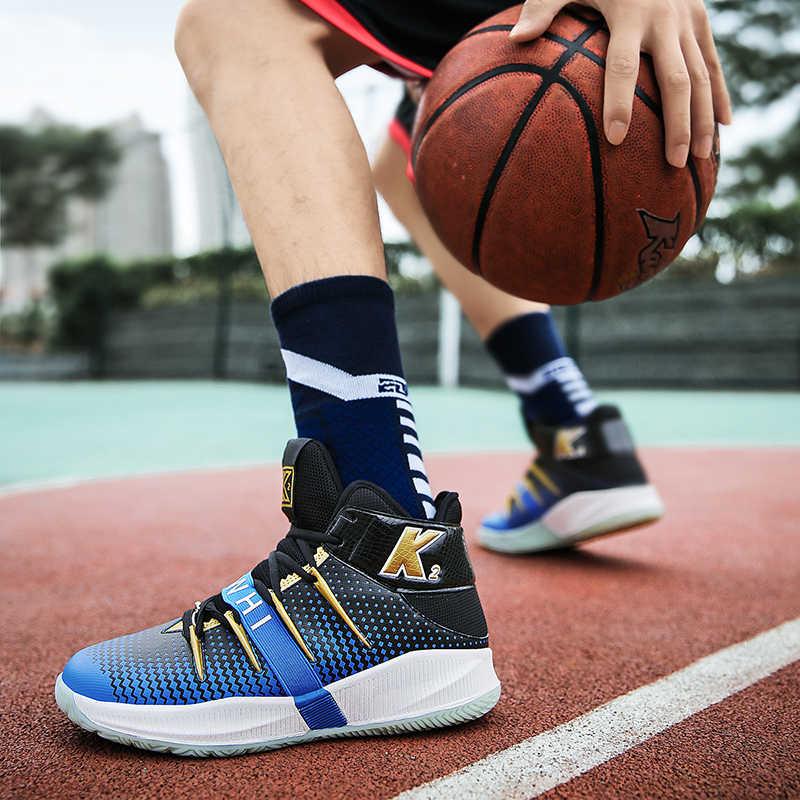 高トップジョーダンバスケットボールシューズ男性のクッションライトバスケットボールスニーカー男性 zapatos hombre 通気性アウトドアスポーツの靴